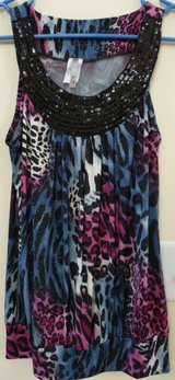 Beautiful Animal Print Top with Sparkle in Naperville, Illinois