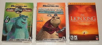Brand New ~ RARE 3 Game Lot PC Disney's The Lion King, Monsters Inc.  Monster Tag & Eight Ball C... in Shorewood, Illinois