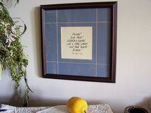 Framed Parents Poem to Children , Square Walnut Picture Frame in Naperville, Illinois