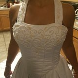 white 2 piece wedding dress(reduced) in Eglin AFB, Florida