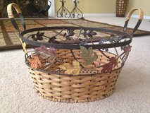 Decorative basket with leaves in Naperville, Illinois