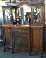 gorgeous Art Deco dining room hutch with facetted glass and mirror in Spangdahlem, Germany