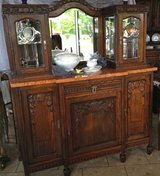 beautiful Art Deco dining room hutch with bevelled mirror in Spangdahlem, Germany
