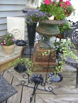 vintage black plant stand in Westmont, Illinois