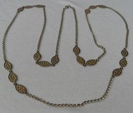 Vintage 70s LONG Necklace Family Piece Gold Metal and Designs in Houston, Texas