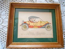 Original Colored Pencil Drawing of a 1912 STUTZ ROADSTER- Signed by Aftist 1952 in Houston, Texas