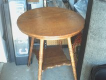 Antique Oak side table in Yucca Valley, California