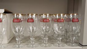 (6) STELLA ARTOIS CHALICE 40CL Gold Rimmed glasses in Chicago, Illinois
