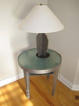 Designer Brushed Metal Lamp in Chicago, Illinois