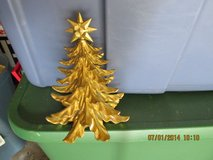 Tabletop Gold Christmas Tree With Star On Top in Kingwood, Texas