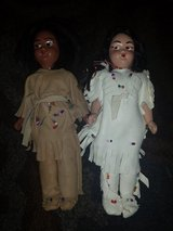Vintage 1950's Native American souvenir hard plastic doll pair in Bolingbrook, Illinois
