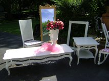 SHABBY CHIC FRENCH COFFEE TABLE AND END TABLE in Plainfield, Illinois