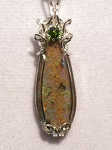 Beautiful & Rare Louisiana Opal w/Chrome Diopside in DeRidder, Louisiana