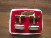 REDUCED Antique real gold coated cuff links in Schweinfurt, Germany