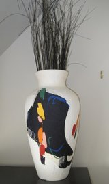 White Hand Painted Vase 18 Inches High in Palatine, Illinois