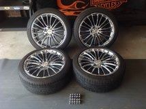"18"" Chrome rims and Tires in Camp Lejeune, North Carolina"