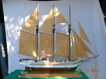 SCHOONER SAILBOAT HANDCRAFTED MODEL in Cherry Point, North Carolina