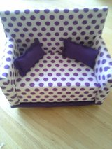 BARBIE - Purple polka dot couch in Vacaville, California