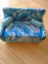 Blue geometrical design couch in Vacaville, California