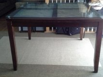 Tall Table with Stone sections covered with tempered glass in Fairfax, Virginia