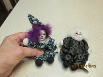 Pair Of Mini Pierrot French Clowns w/Porcelain Heads in Houston, Texas