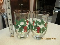 "2 Gold-Rimmed Vintage Christmas Glasses By ""Libbey - NWT in Kingwood, Texas"