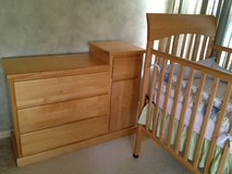 Modern Crib, Dresser & Mattress Set in Naperville, Illinois
